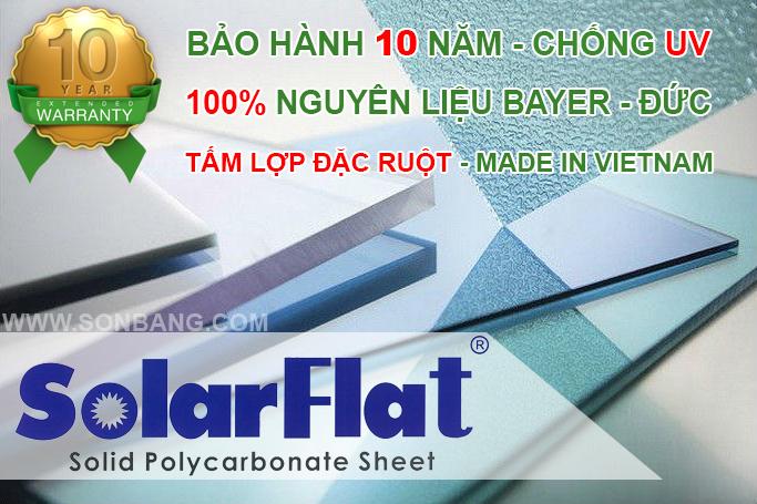 Tấm poly đặc ruột Solarflat